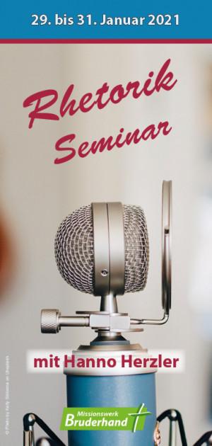 Rhetorik-Seminar (verschoben: 23.–25. April 2021)