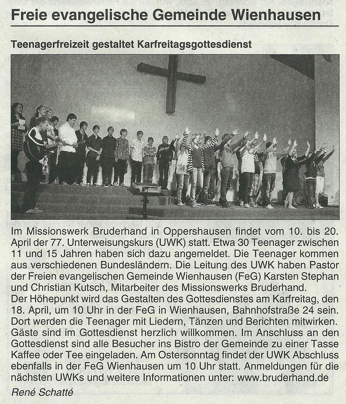 2014-04-15 Wathlinger Echo UWK