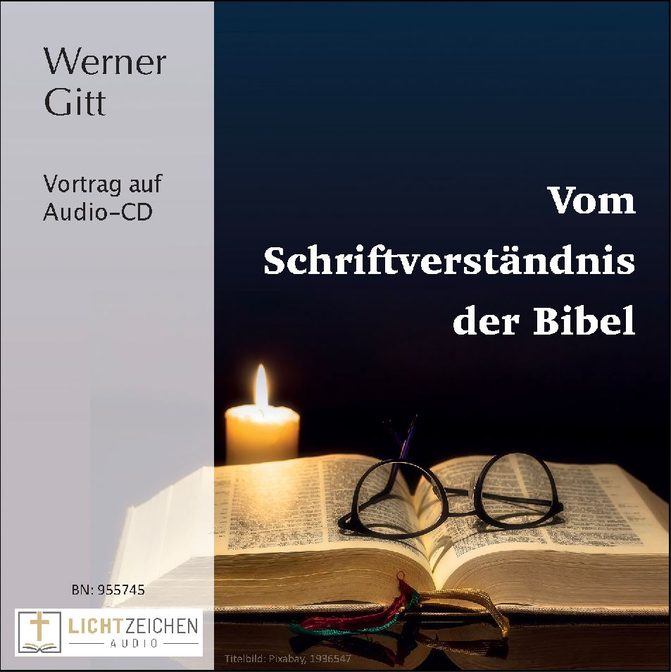 Vom Schriftverständnis der Bibel (Audio-CD)