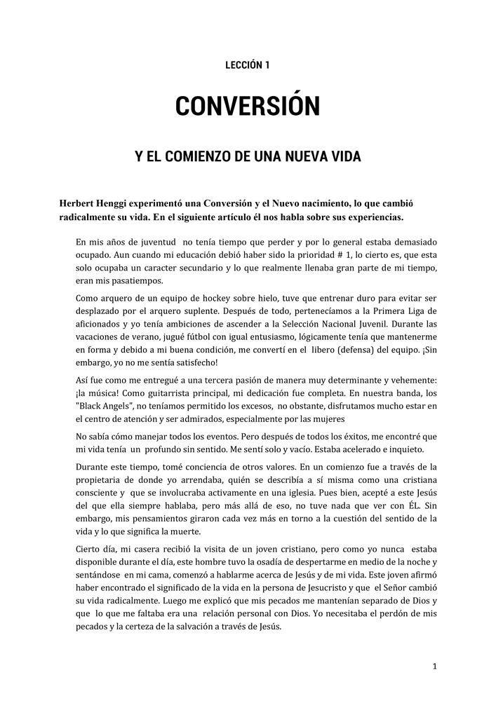 Spanisch: Neues Leben mit Jesus Teil 1