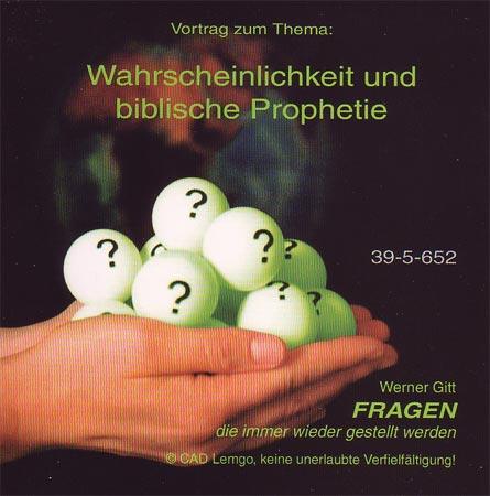 Wahrscheinlichkeit und biblische Prophetie